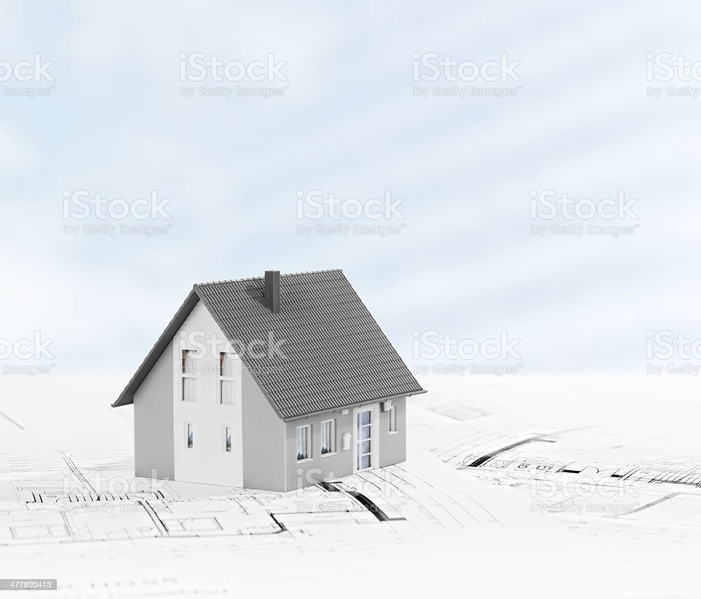 Planning House royalty-free stock photo