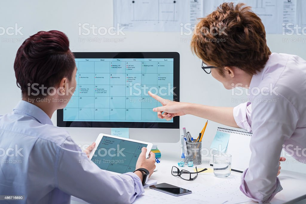 Planning meeting stock photo