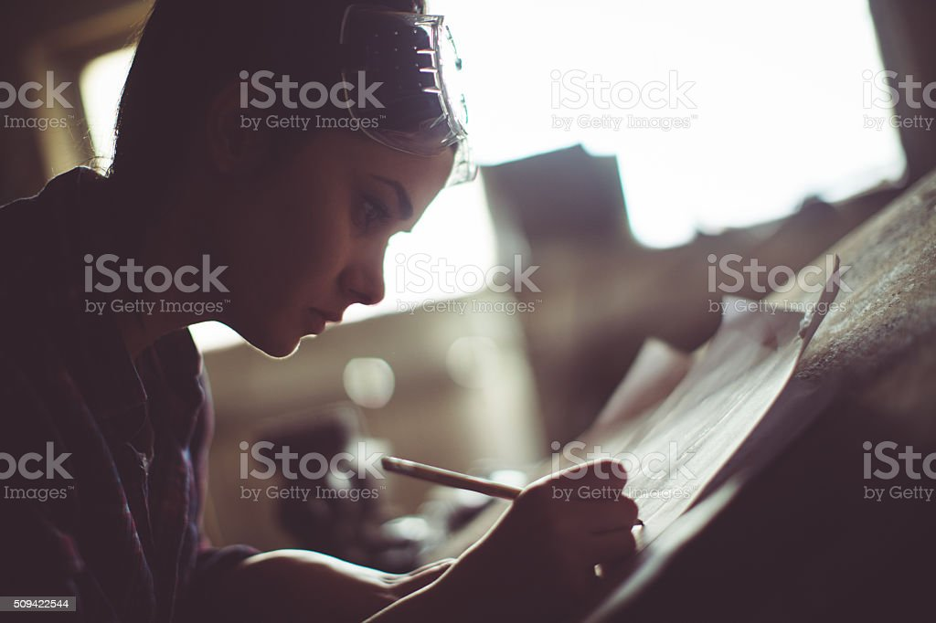 Planning my future projects stock photo