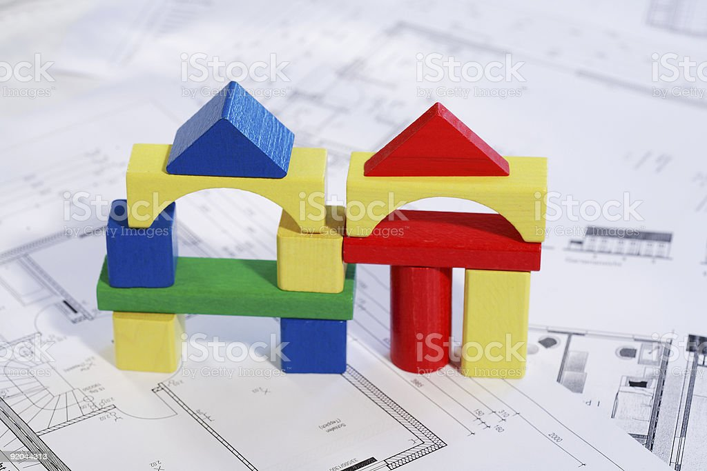 Planning new family house royalty-free stock photo