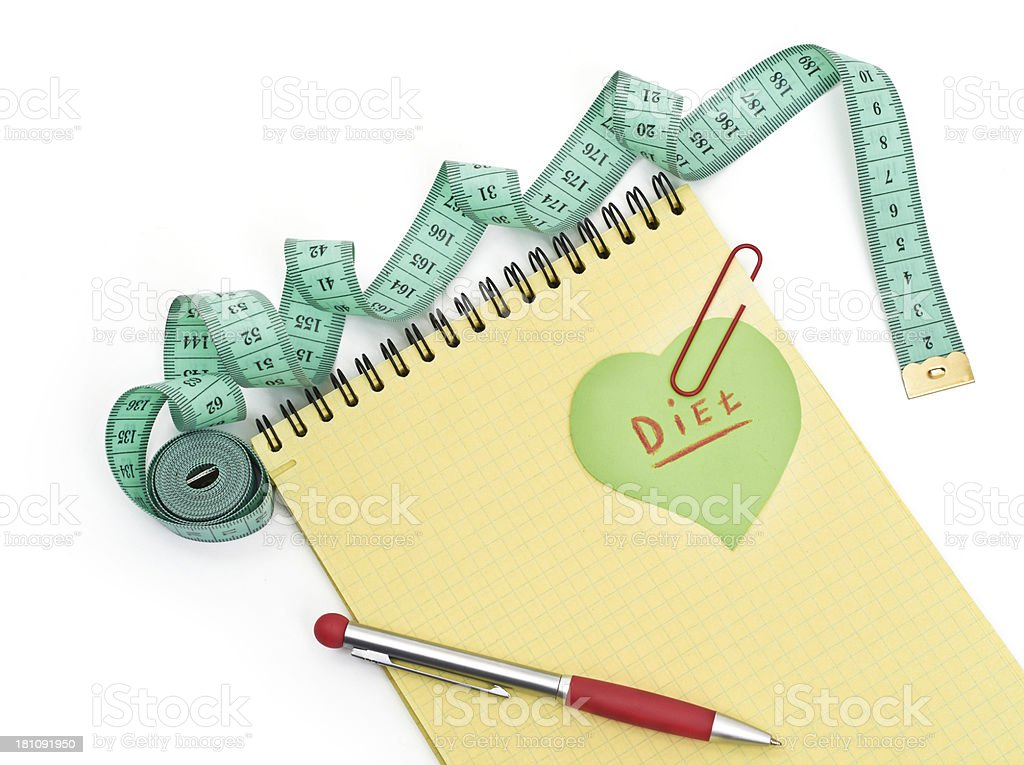 Planning of diet. royalty-free stock photo