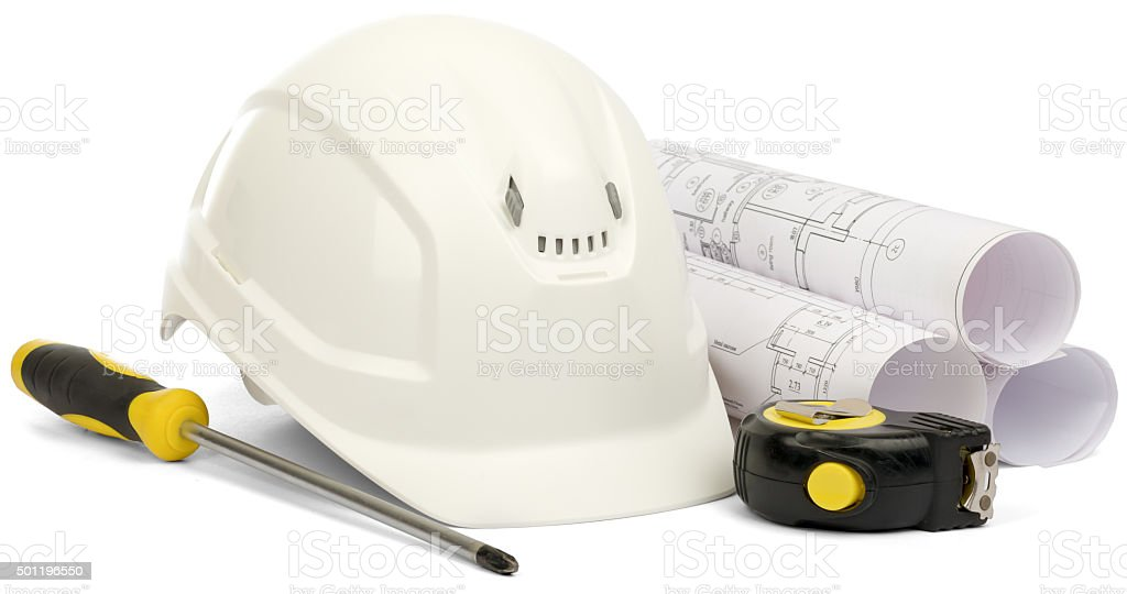 Planning of house construction stock photo