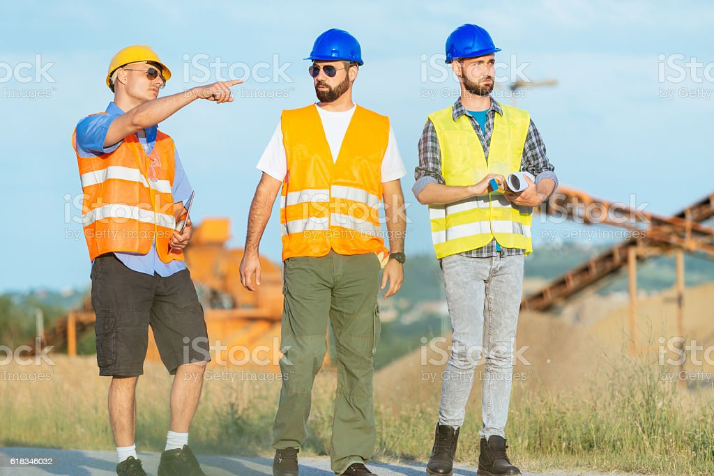Planning process in construction industry stock photo
