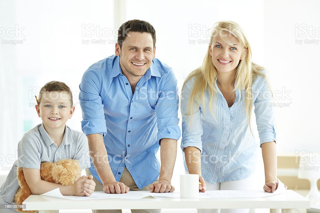 Planning repair royalty-free stock photo