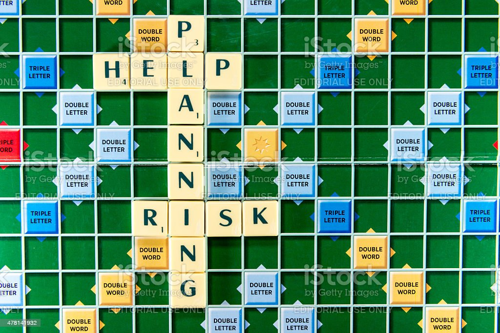 planning risk help stock photo