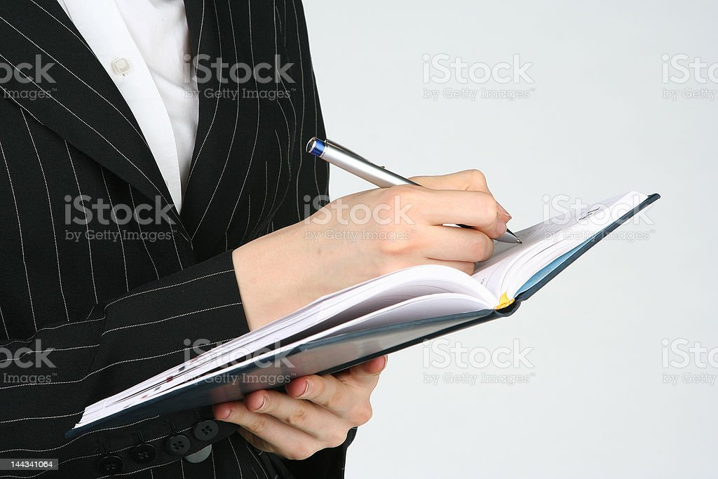 planning the business meeting stock photo