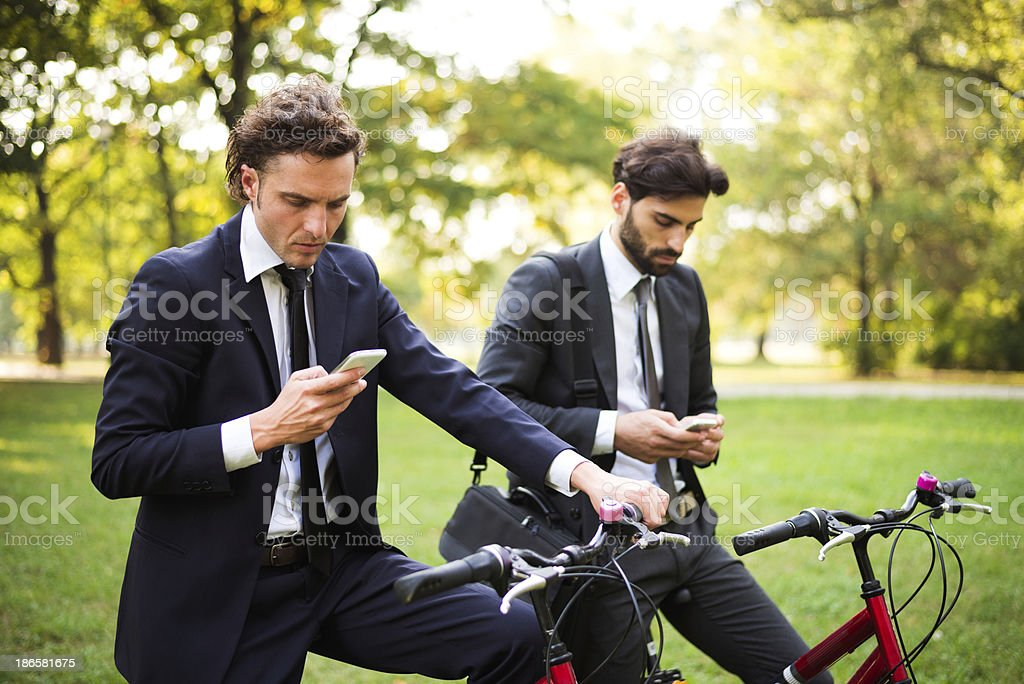 Planning the day royalty-free stock photo