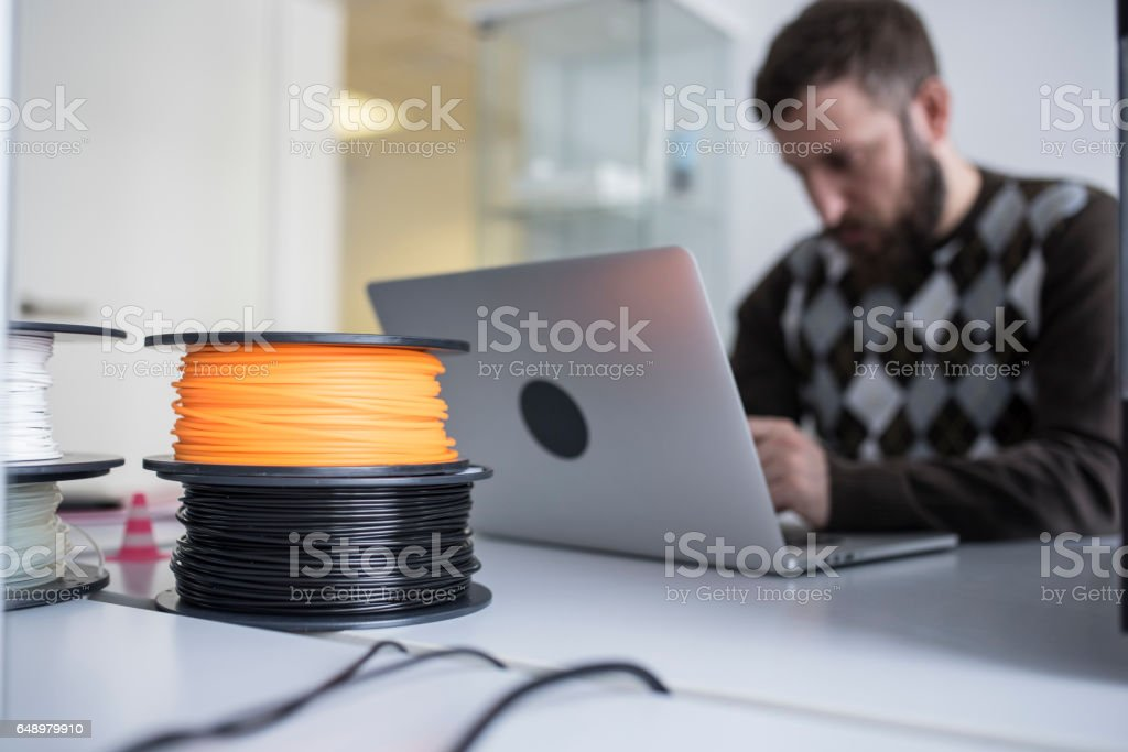 Planning the new 3D models stock photo