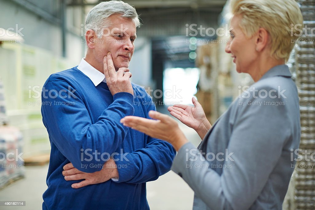 Planning the next steps in our company stock photo