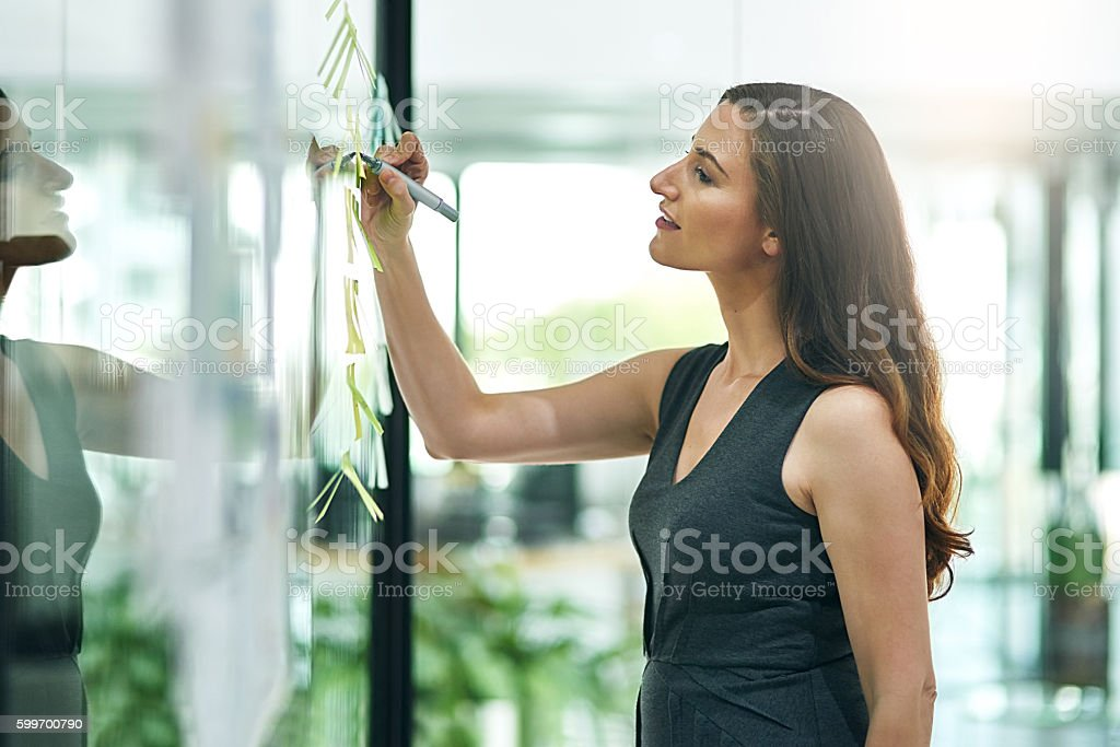 Planning the perfect strategy stock photo