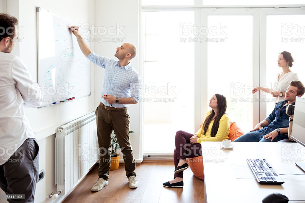 Planning the strategy stock photo