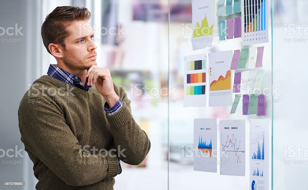 Planning the way forward stock photo