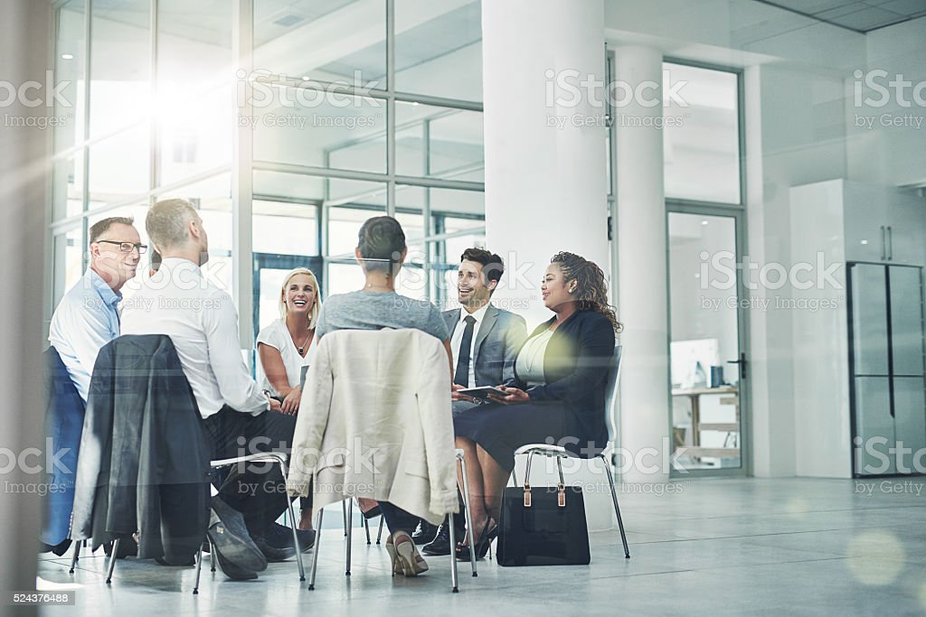 Planning their company's course stock photo