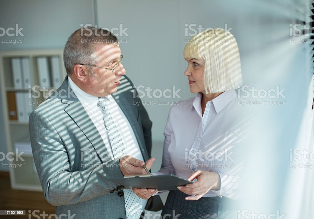 Planning work royalty-free stock photo