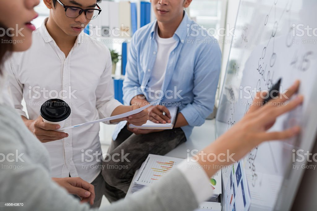 Planning work stock photo