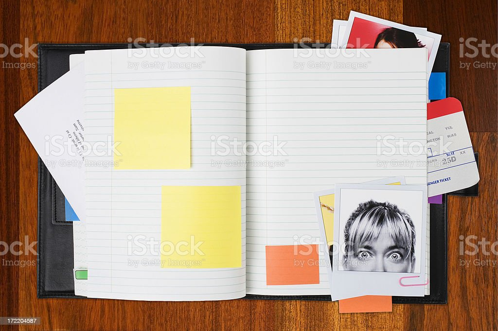 Planning your day stock photo