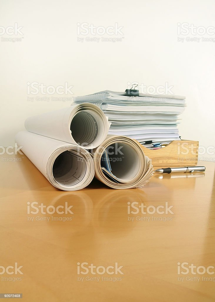 Plans and Paperwork royalty-free stock photo