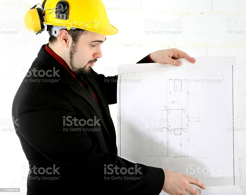 Plans for Construction royalty-free stock photo