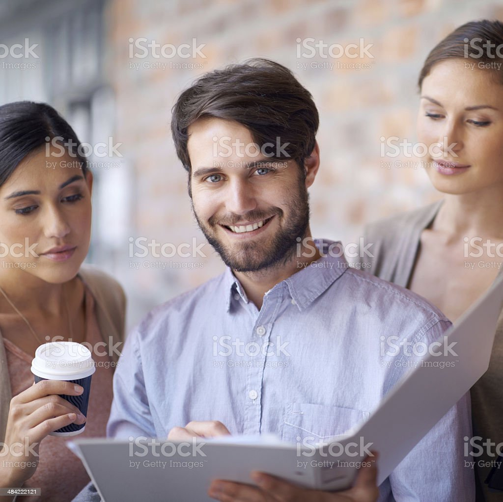 Plans for success stock photo