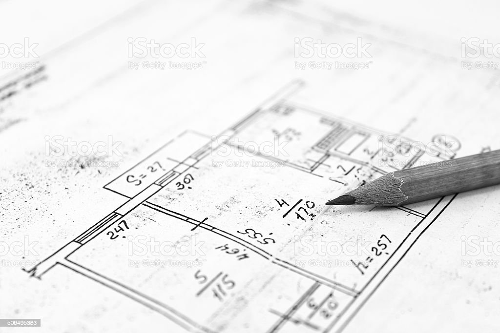 plans of building royalty-free stock photo