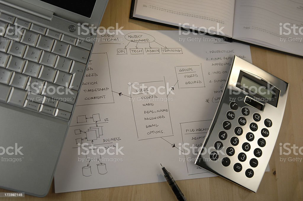 plans royalty-free stock photo