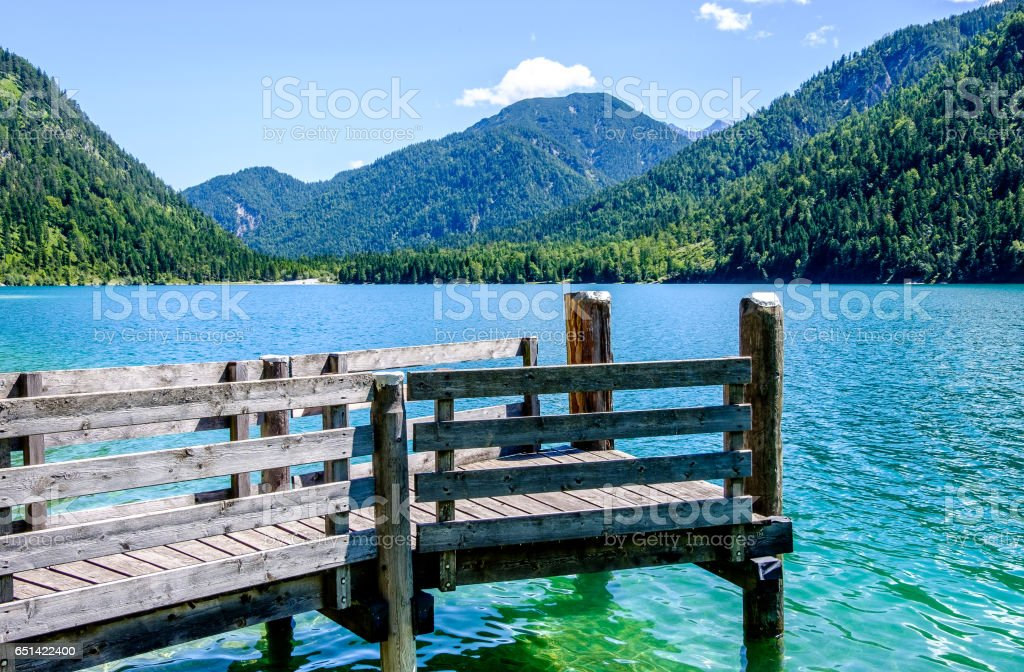 plansee in austria stock photo