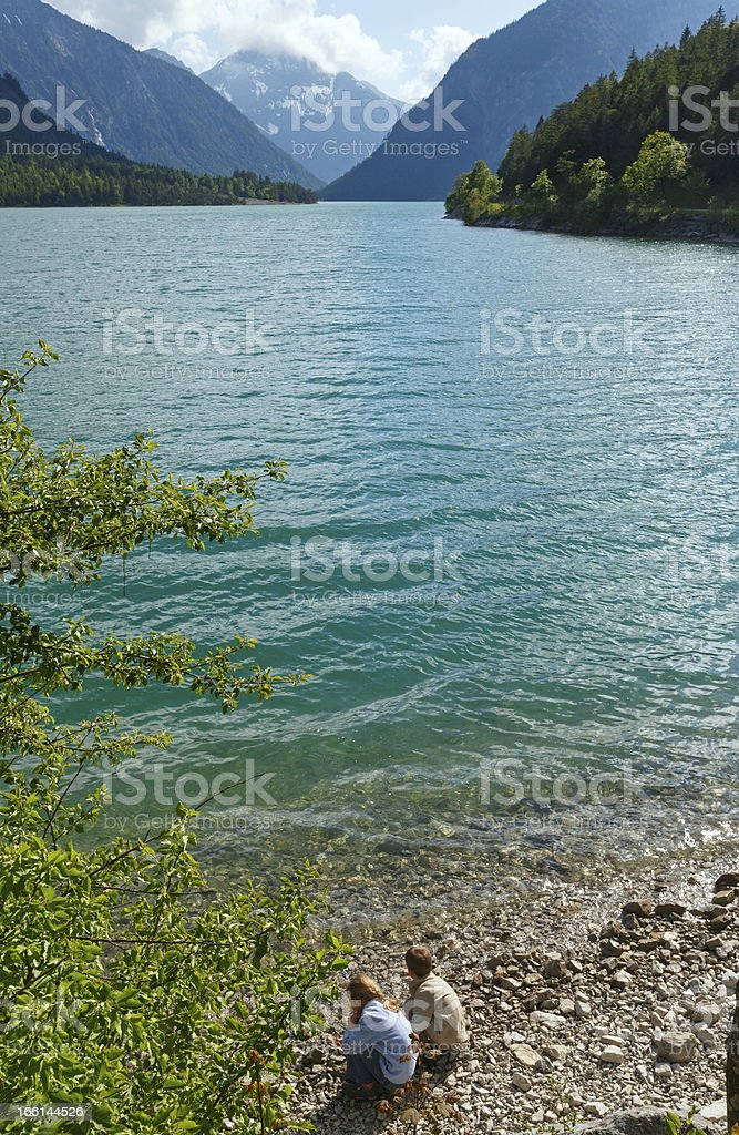Plansee summer landscape (Austria). royalty-free stock photo