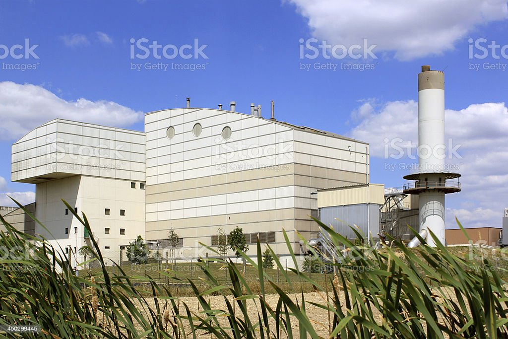 plant for waste treatment stock photo