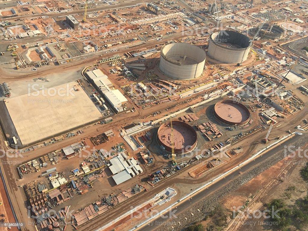 LNG Plant stock photo