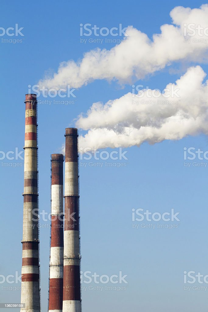 plant pipe with smoke royalty-free stock photo