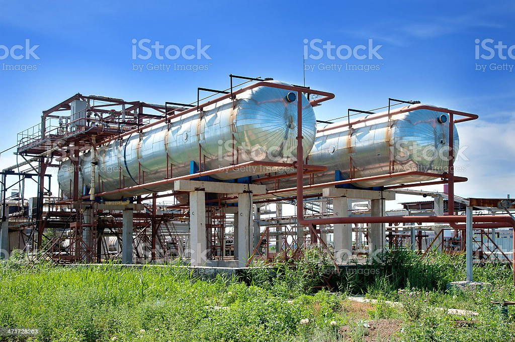 Plant, tanks for gasoline royalty-free stock photo