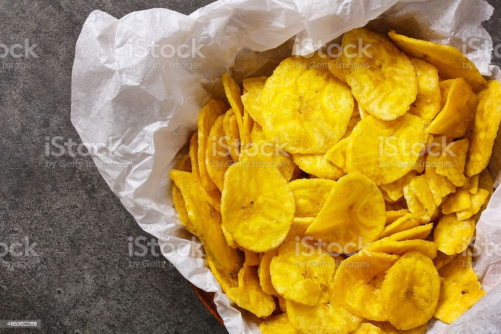 Plantain Banana Chips stock photo