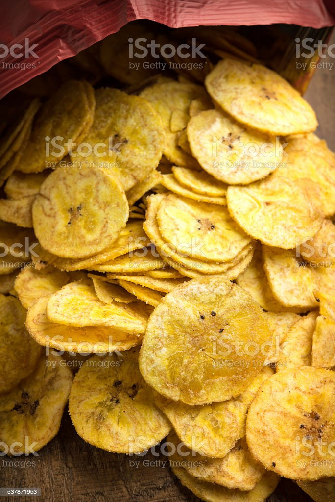 Plantain Chips stock photo