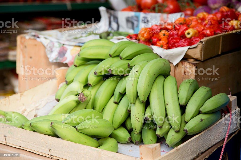 plantains stock photo