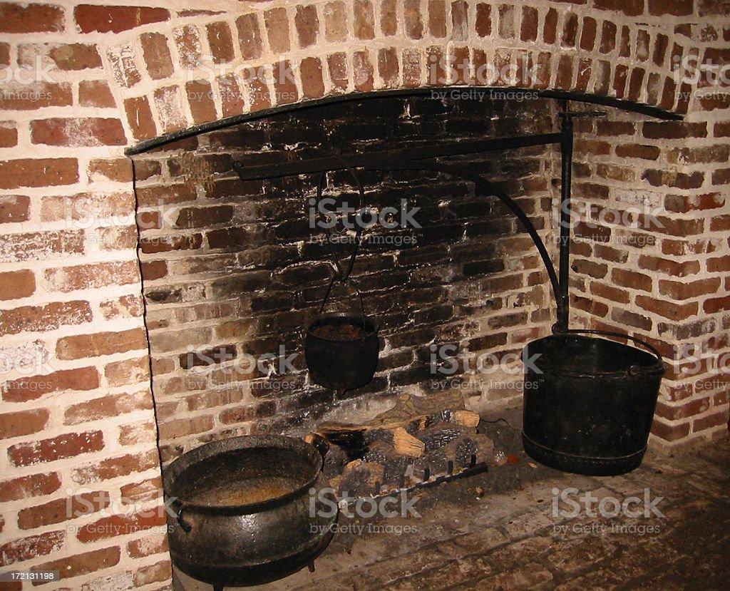 Plantation Fireplace stock photo