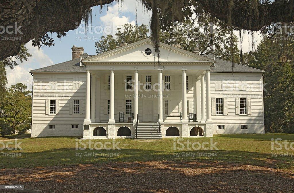 Plantation Mansion stock photo