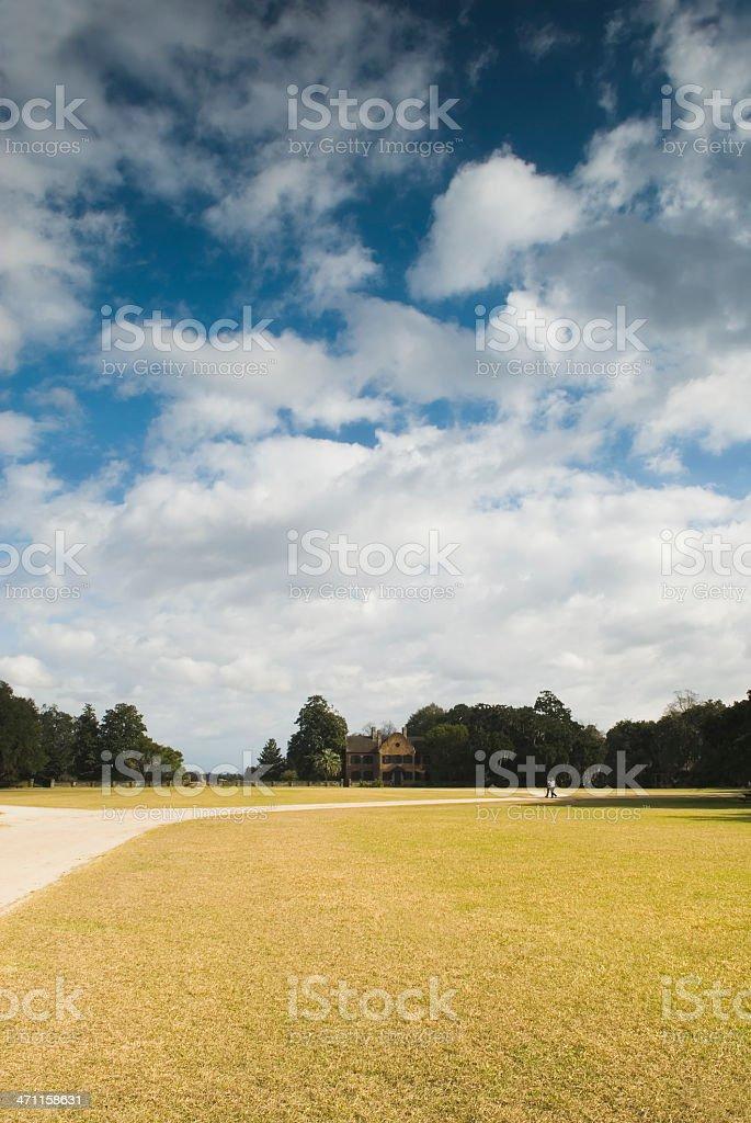 Plantation scenery (Middleton Place, SC) - II stock photo