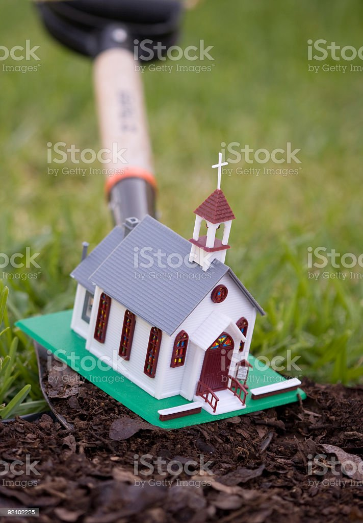 Planting a new church royalty-free stock photo
