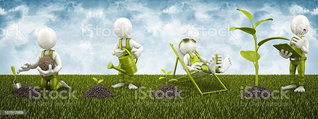 planting process royalty-free stock photo