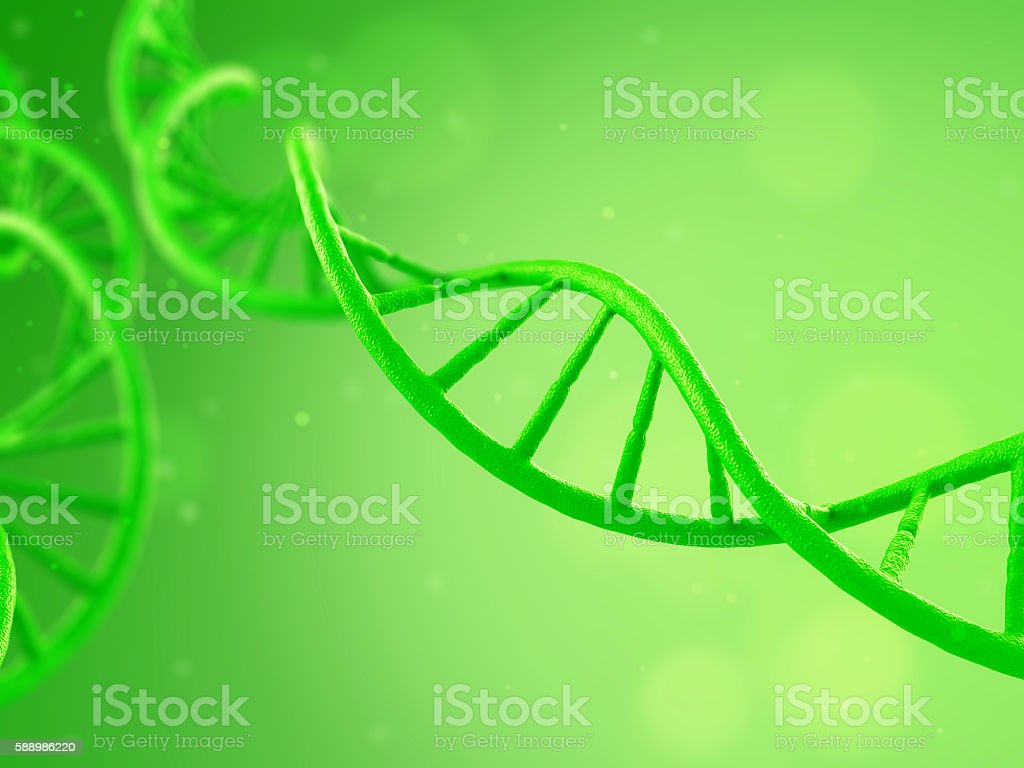 DNA Plants on a green background stock photo
