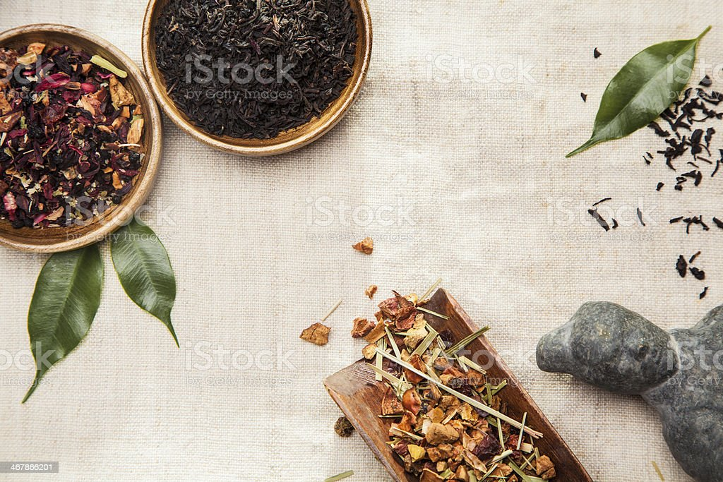 Plants, symbol of traditional Chinese medicine stock photo