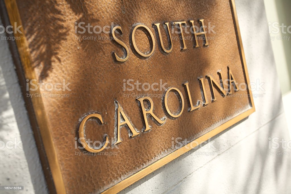 Plaque of South Carolina royalty-free stock photo