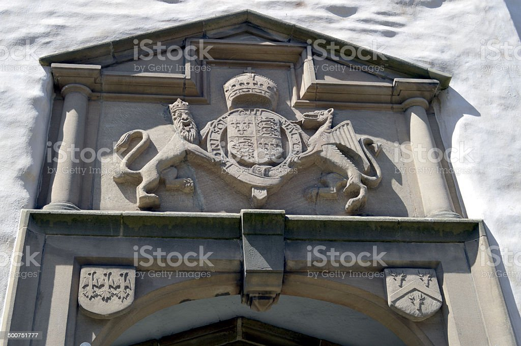 Plas Mawr in Conwy royalty-free stock photo