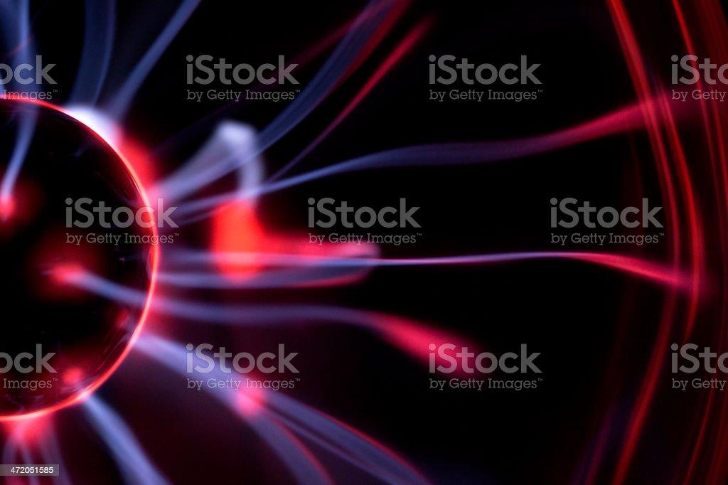 Plasma Ball macro stock photo