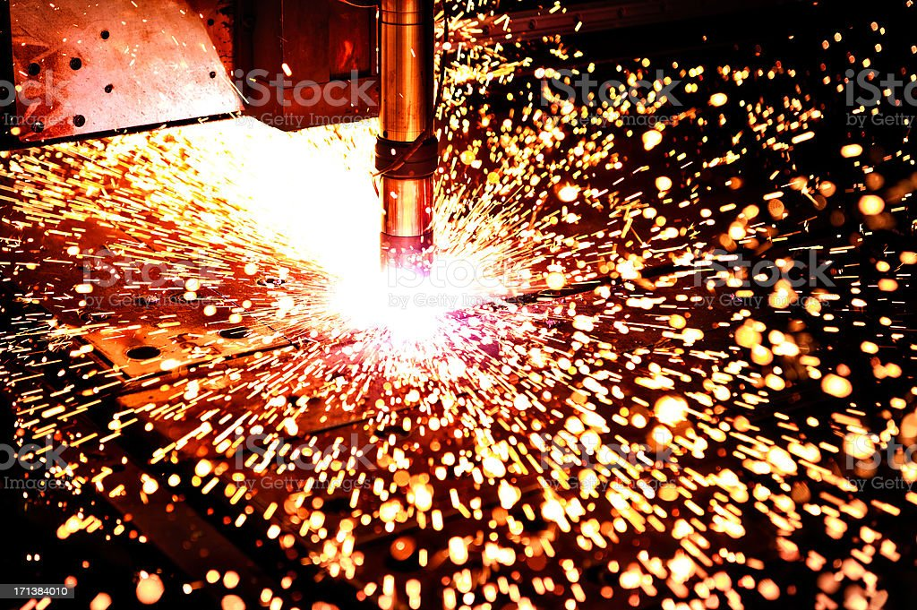 Plasma Cutter CloseUp stock photo