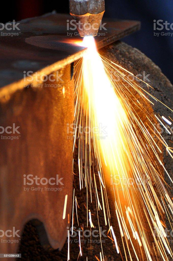 Plasma cutter stock photo