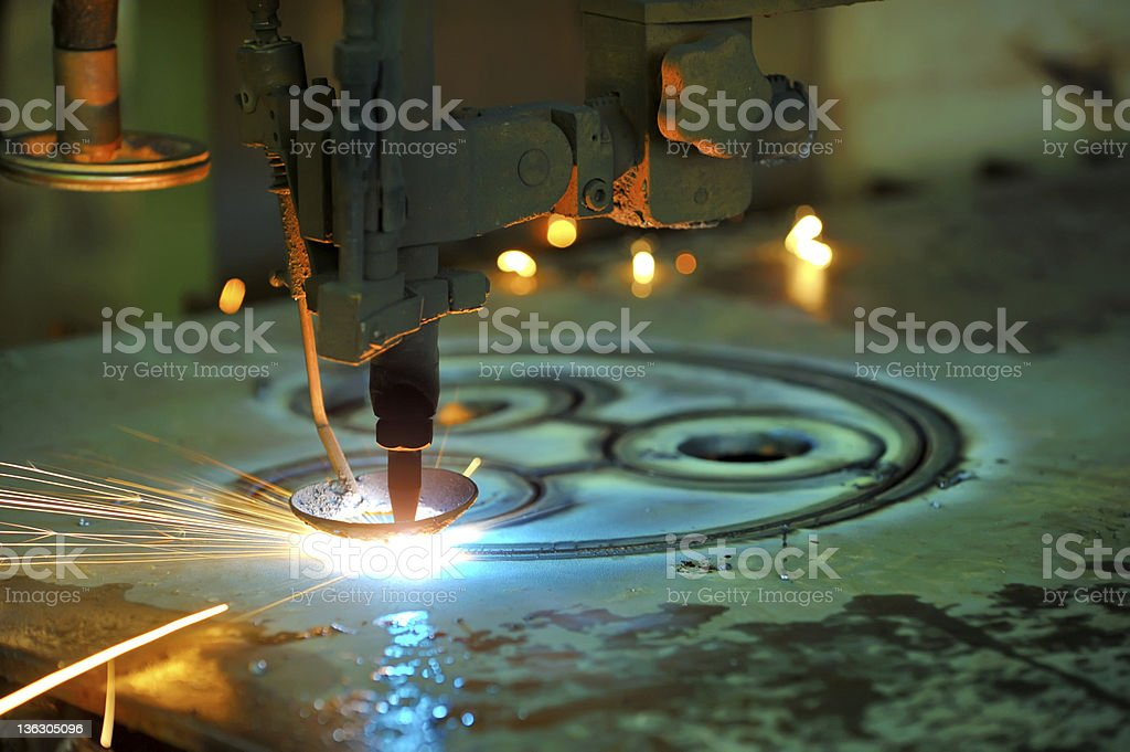 Plasma cutting royalty-free stock photo