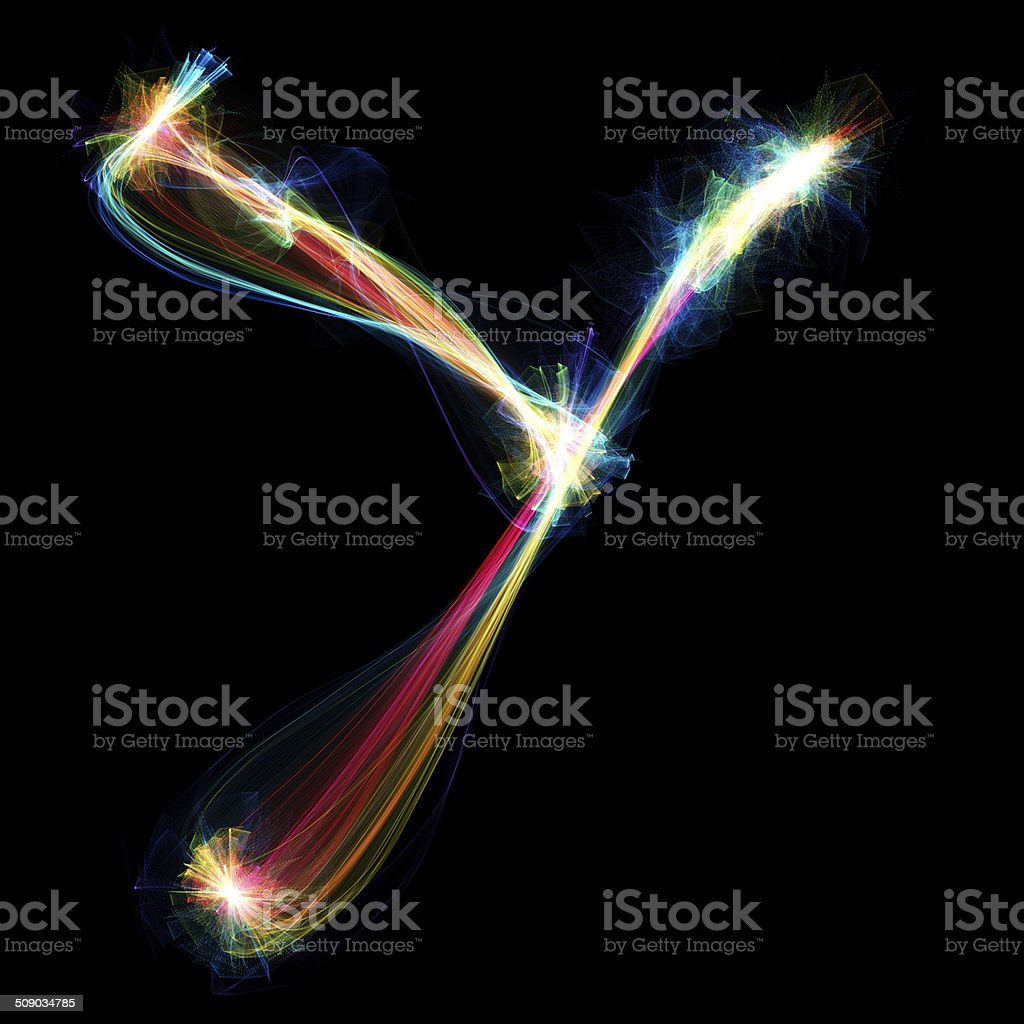 Plasma Letter - Y stock photo