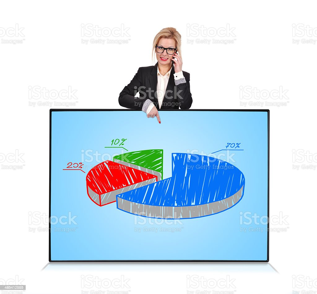 plasma panel with graph royalty-free stock photo