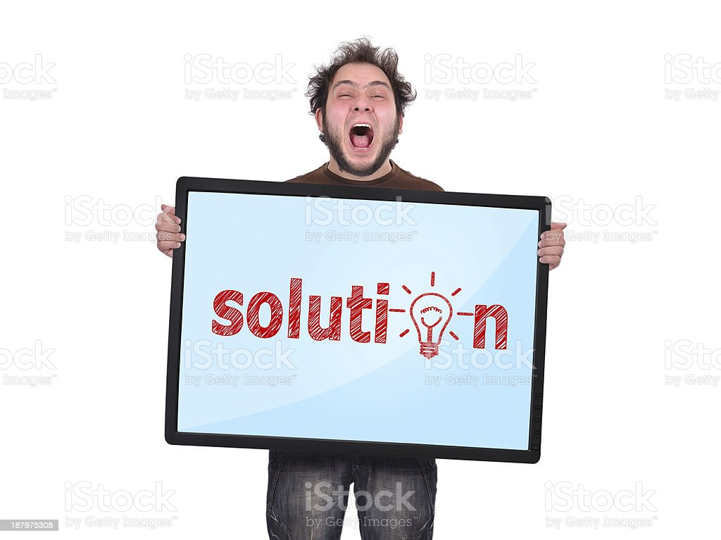 plasma panel with solution royalty-free stock photo